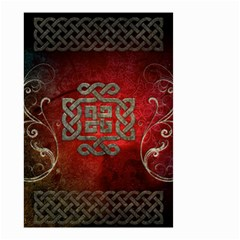 The Celtic Knot With Floral Elements Small Garden Flag (two Sides) by FantasyWorld7