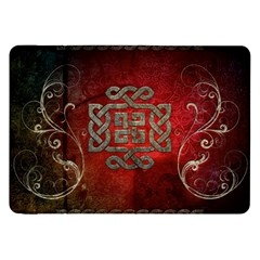 The Celtic Knot With Floral Elements Samsung Galaxy Tab 8 9  P7300 Flip Case by FantasyWorld7