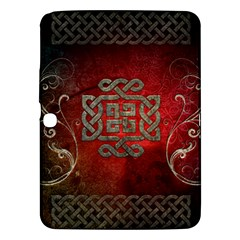 The Celtic Knot With Floral Elements Samsung Galaxy Tab 3 (10 1 ) P5200 Hardshell Case  by FantasyWorld7