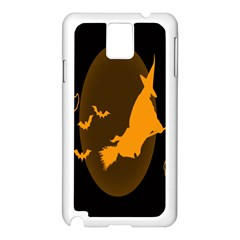 Day Hallowiin Ghost Bat Cobwebs Full Moon Spider Samsung Galaxy Note 3 N9005 Case (white)