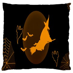 Day Hallowiin Ghost Bat Cobwebs Full Moon Spider Standard Flano Cushion Case (one Side) by Mariart