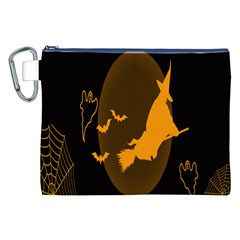 Day Hallowiin Ghost Bat Cobwebs Full Moon Spider Canvas Cosmetic Bag (xxl) by Mariart