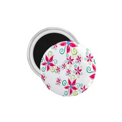 Flower Beauty Sexy Rainbow Sunflower Pink Green Blue 1 75  Magnets by Mariart