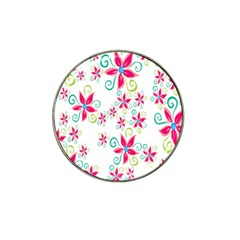 Flower Beauty Sexy Rainbow Sunflower Pink Green Blue Hat Clip Ball Marker (4 Pack) by Mariart