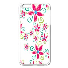 Flower Beauty Sexy Rainbow Sunflower Pink Green Blue Apple Iphone 6 Plus/6s Plus Enamel White Case by Mariart