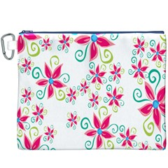 Flower Beauty Sexy Rainbow Sunflower Pink Green Blue Canvas Cosmetic Bag (xxxl) by Mariart