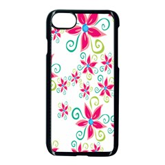 Flower Beauty Sexy Rainbow Sunflower Pink Green Blue Apple Iphone 7 Seamless Case (black) by Mariart