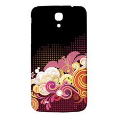 Flower Back Leaf Polka Dots Black Pink Samsung Galaxy Mega I9200 Hardshell Back Case by Mariart