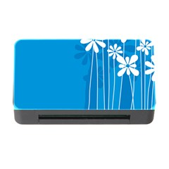 Flower Blue Memory Card Reader With Cf by Mariart