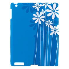 Flower Blue Apple Ipad 3/4 Hardshell Case by Mariart