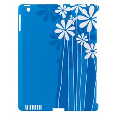 Flower Blue Apple Ipad 3/4 Hardshell Case (compatible With Smart Cover) by Mariart