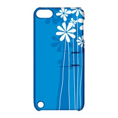 Flower Blue Apple Ipod Touch 5 Hardshell Case With Stand by Mariart