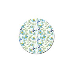 Flower Blue Butterfly Leaf Green Golf Ball Marker (10 Pack) by Mariart