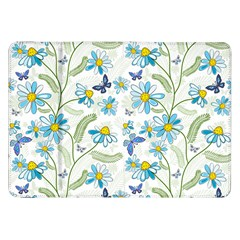 Flower Blue Butterfly Leaf Green Samsung Galaxy Tab 8 9  P7300 Flip Case by Mariart