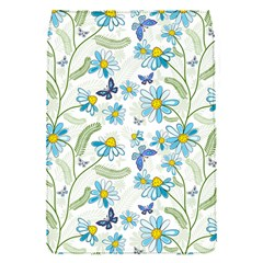 Flower Blue Butterfly Leaf Green Flap Covers (s)  by Mariart