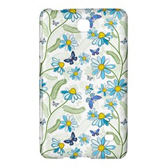 Flower Blue Butterfly Leaf Green Samsung Galaxy Tab 4 (8 ) Hardshell Case  by Mariart