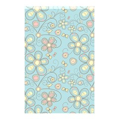 Flower Blue Butterfly Bird Yellow Floral Sexy Shower Curtain 48  X 72  (small)  by Mariart