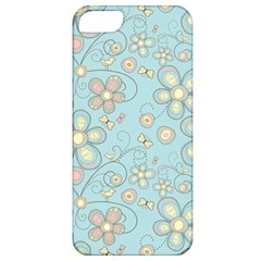 Flower Blue Butterfly Bird Yellow Floral Sexy Apple Iphone 5 Classic Hardshell Case