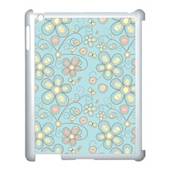 Flower Blue Butterfly Bird Yellow Floral Sexy Apple Ipad 3/4 Case (white) by Mariart