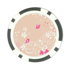 Flower Bird Love Pink Heart Valentine Animals Star Poker Chip Card Guard by Mariart