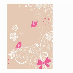 Flower Bird Love Pink Heart Valentine Animals Star Small Garden Flag (two Sides) by Mariart