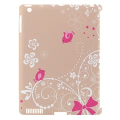 Flower Bird Love Pink Heart Valentine Animals Star Apple Ipad 3/4 Hardshell Case (compatible With Smart Cover) by Mariart