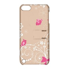 Flower Bird Love Pink Heart Valentine Animals Star Apple Ipod Touch 5 Hardshell Case With Stand by Mariart