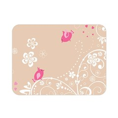 Flower Bird Love Pink Heart Valentine Animals Star Double Sided Flano Blanket (mini)  by Mariart