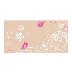 Flower Bird Love Pink Heart Valentine Animals Star Satin Wrap by Mariart