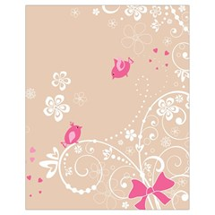 Flower Bird Love Pink Heart Valentine Animals Star Drawstring Bag (small) by Mariart