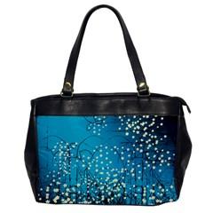 Flower Back Leaf River Blue Star Office Handbags by Mariart
