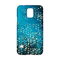 Flower Back Leaf River Blue Star Samsung Galaxy S5 Hardshell Case  by Mariart