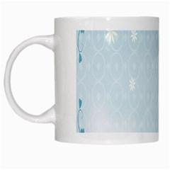 Flower Blue Polka Plaid Sexy Star Love Heart White Mugs by Mariart