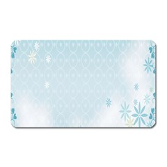 Flower Blue Polka Plaid Sexy Star Love Heart Magnet (rectangular) by Mariart