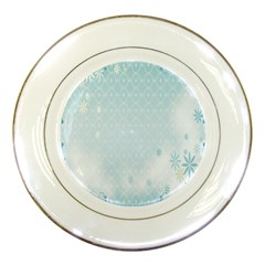 Flower Blue Polka Plaid Sexy Star Love Heart Porcelain Plates by Mariart
