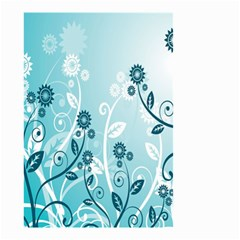 Flower Blue River Star Sunflower Small Garden Flag (two Sides) by Mariart
