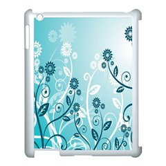 Flower Blue River Star Sunflower Apple Ipad 3/4 Case (white) by Mariart
