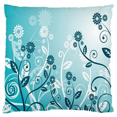 Flower Blue River Star Sunflower Large Flano Cushion Case (two Sides) by Mariart