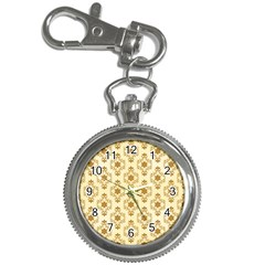 Flower Brown Star Rose Key Chain Watches by Mariart