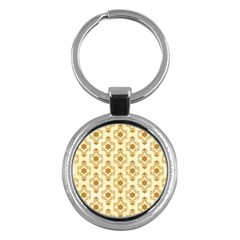 Flower Brown Star Rose Key Chains (round)  by Mariart