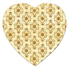 Flower Brown Star Rose Jigsaw Puzzle (heart) by Mariart