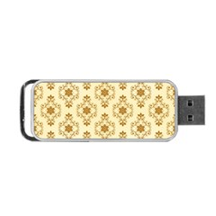 Flower Brown Star Rose Portable Usb Flash (one Side) by Mariart