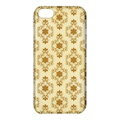 Flower Brown Star Rose Apple Iphone 5c Hardshell Case by Mariart