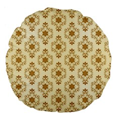 Flower Brown Star Rose Large 18  Premium Flano Round Cushions by Mariart