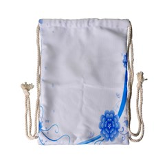 Flower Blue Sunflower Star Sexy Drawstring Bag (small) by Mariart