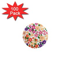 Flower Floral Rainbow Rose 1  Mini Magnets (100 Pack)  by Mariart