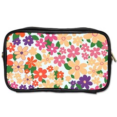 Flower Floral Rainbow Rose Toiletries Bags 2 Side by Mariart