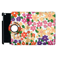 Flower Floral Rainbow Rose Apple Ipad 3/4 Flip 360 Case by Mariart