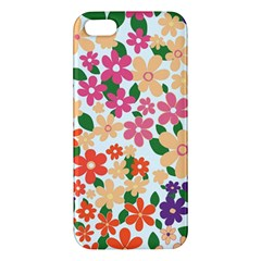 Flower Floral Rainbow Rose Apple Iphone 5 Premium Hardshell Case by Mariart