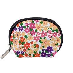 Flower Floral Rainbow Rose Accessory Pouches (small)  by Mariart
